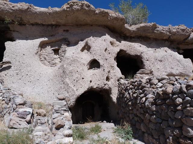 Casa troglodita en Meymand (Irán)