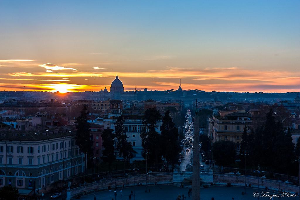 Sunset From Terrazza Del Pincio 4 Roma Lazio Italia Flickr