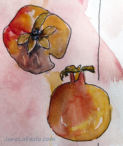 Pomegrantes ~ from my sketchbook