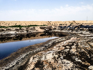 Mud Pit, Halfaya Oilfield, Iraq | by Earth & Marine Environmental Consultants (EAME)