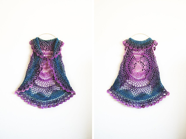 Willow Vest: lotus blossom