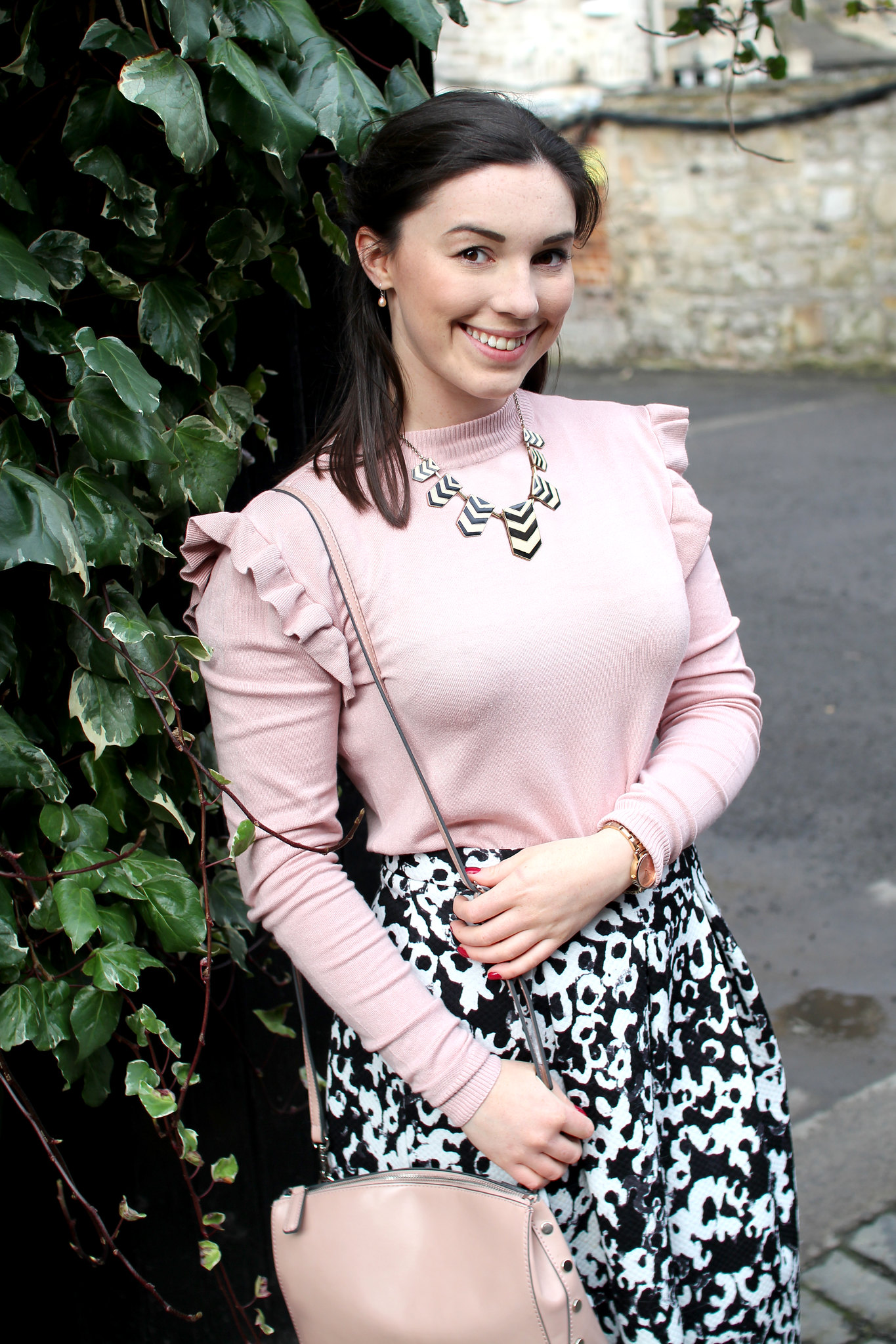ruffles jumper top new look pink uk fashion lifestyle blogger The Little Things