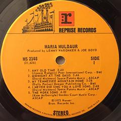 MARIA MULDAUR:MARIA MULDAUR(LABEL SIDE-A)