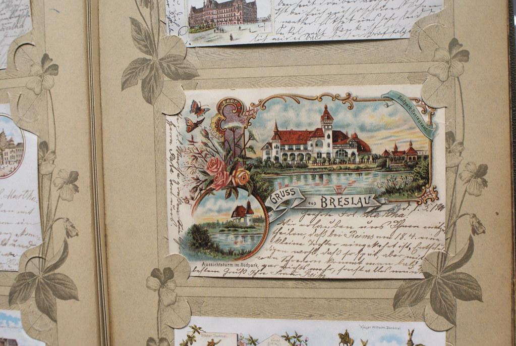 Ancienne carte postale de Breslau.