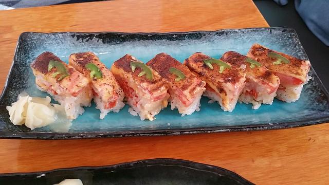 2017-Apr-21 Kishimoto - salmon oshisushi
