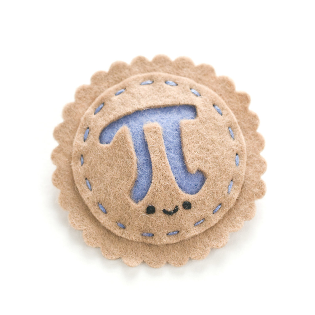 3.14 Pi Day Felt Pin DIY