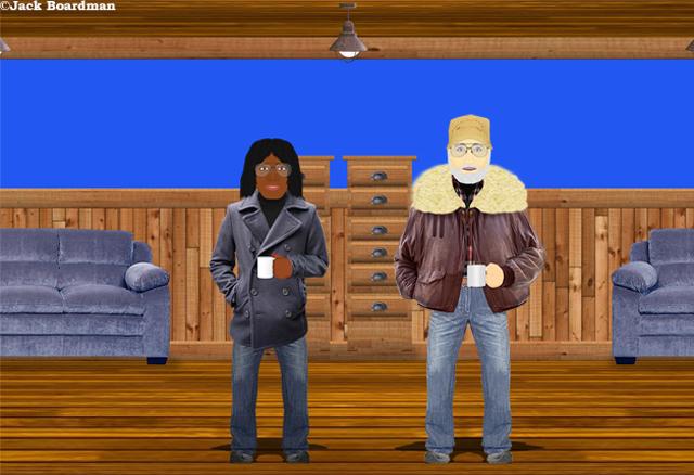 Collie showed Boomer the stowaway quarters ©Jack Boardman