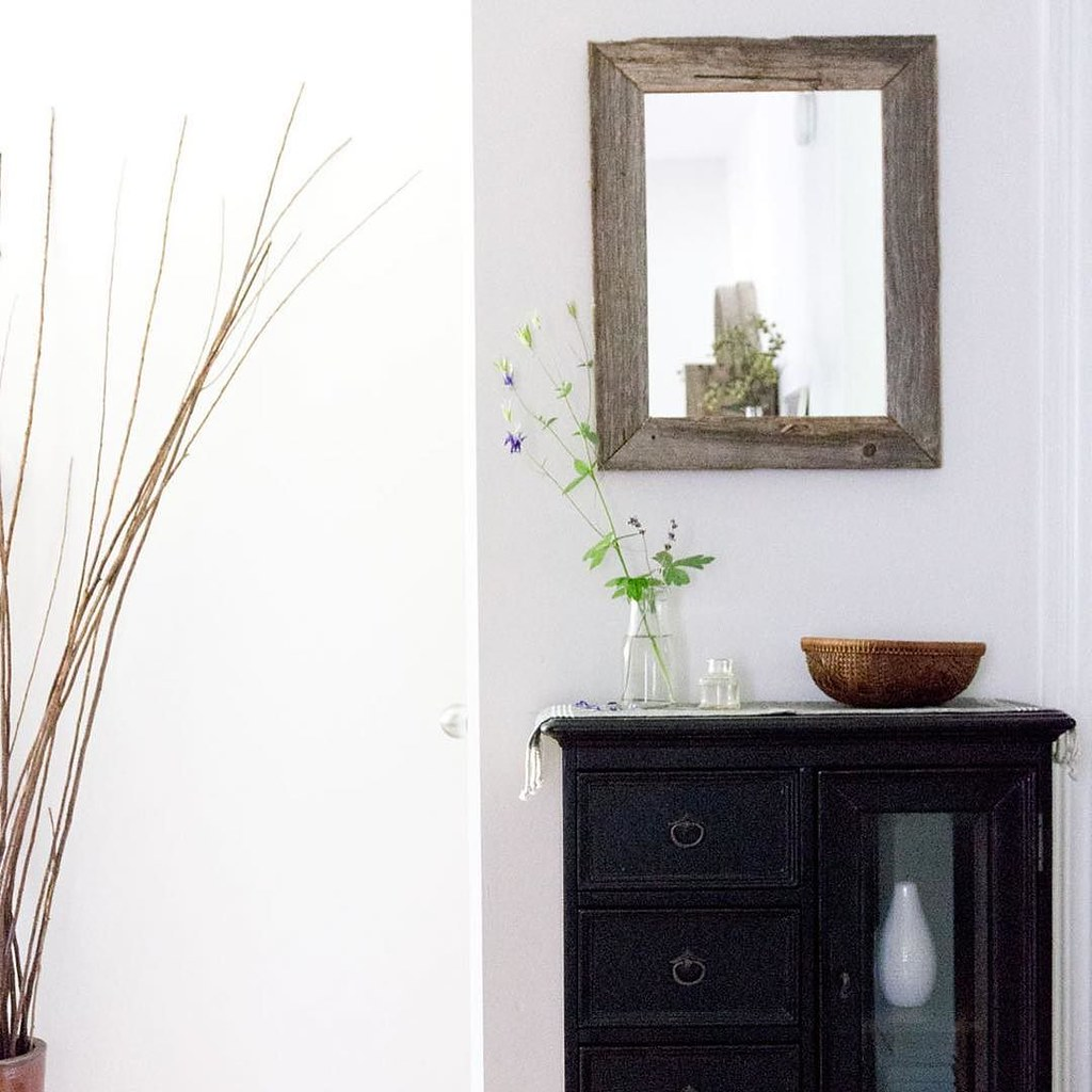 my slow home decorated entryway simple functional with salvaged and repurposed - Slow Home Design