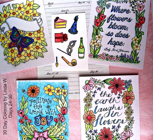 30 Day Coloring Days 24 to 30