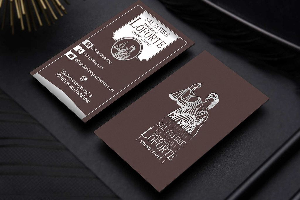 Lawyer Brown Silver Business Card | We realize Custom Busine… | Flickr