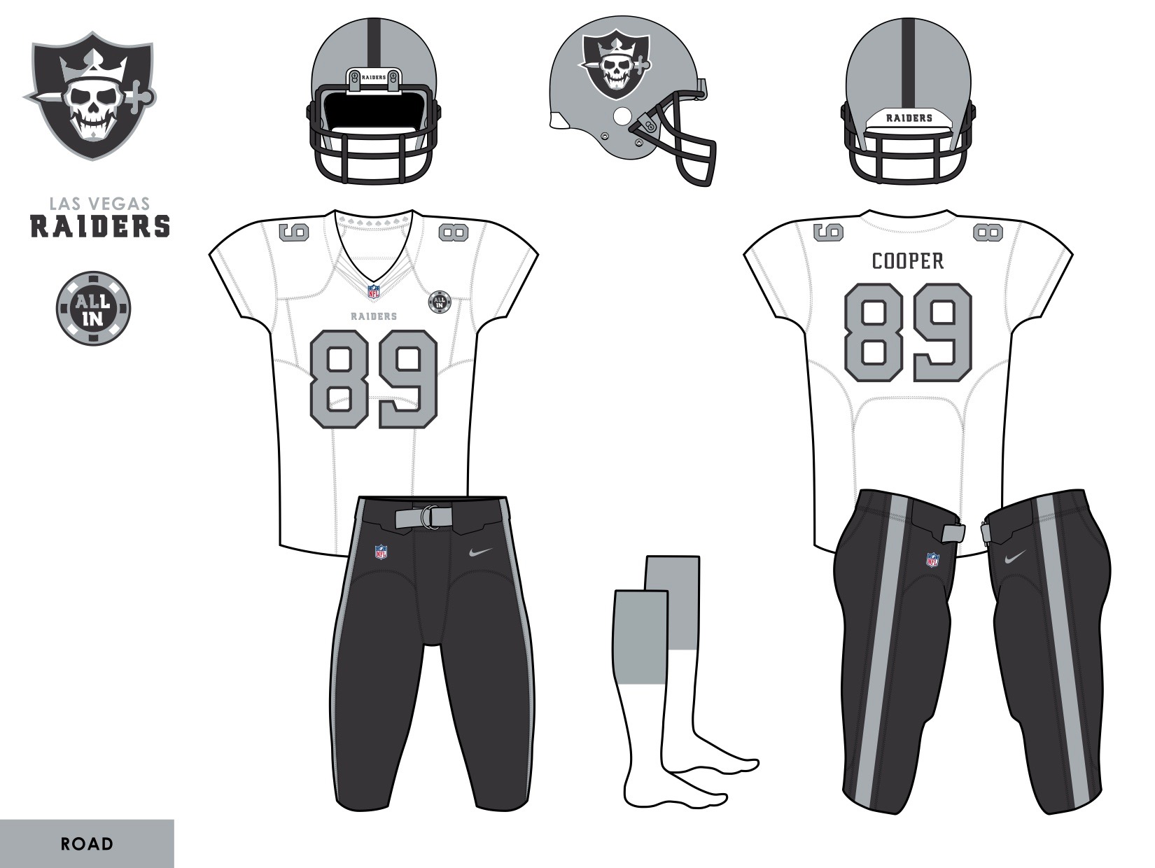 9f1979d7771 Sometimes the best solution is the simplest one. Alex Rocklein added a lot  of punch to the Raiders  road look by simply changing the pants from silver  to ...