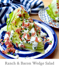 Skinny Buttermilk Ranch & Crispy Bacon Iceburg Wedge Salad