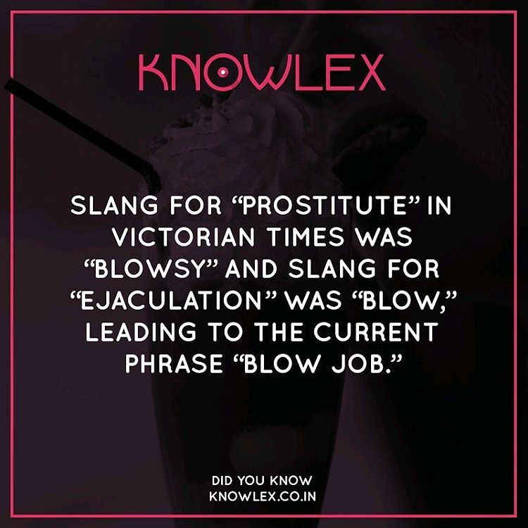 Slang for blowjob