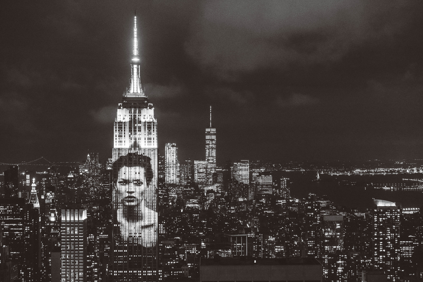 Harper's Bazaar 150 Year Anniversary on Empire State Building - Kate Moss by Peter Lindbergh