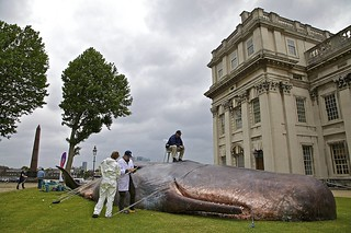 Beached whale (not real!) - part of the Greenwich and Docklands Festival | by davidkhardman