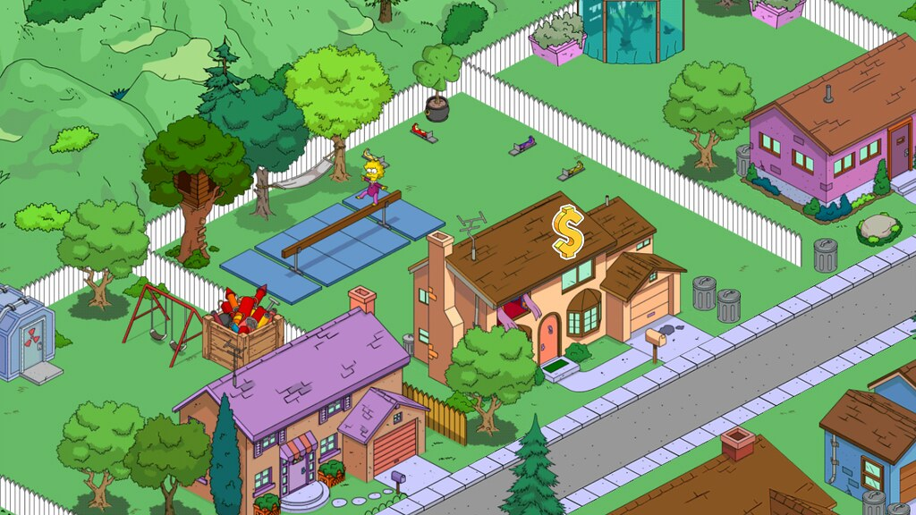 Simpson S Backyard Ballance Beam In The Simpsons