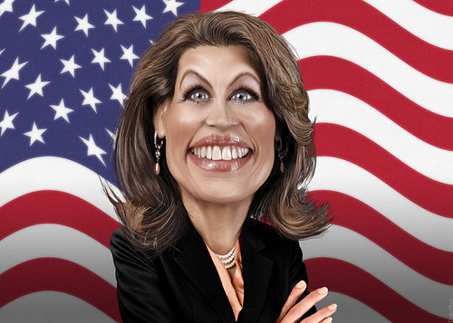 Michele Bachmann - Caricature | by DonkeyHotey