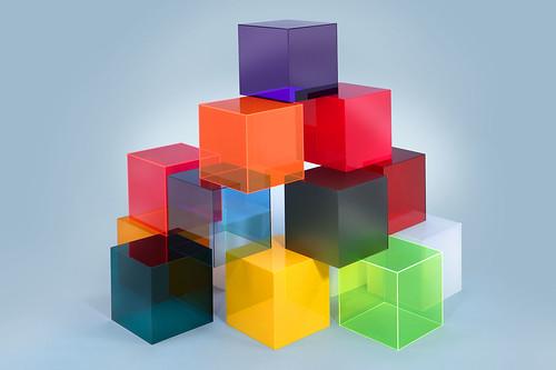 farbige w rfel aus plexiglas geissler plexiglas flickr. Black Bedroom Furniture Sets. Home Design Ideas