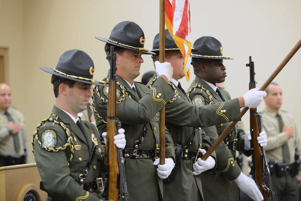 Fwc honor guard fwc welcomed 11 new officers to the for Florida fish and wildlife officer
