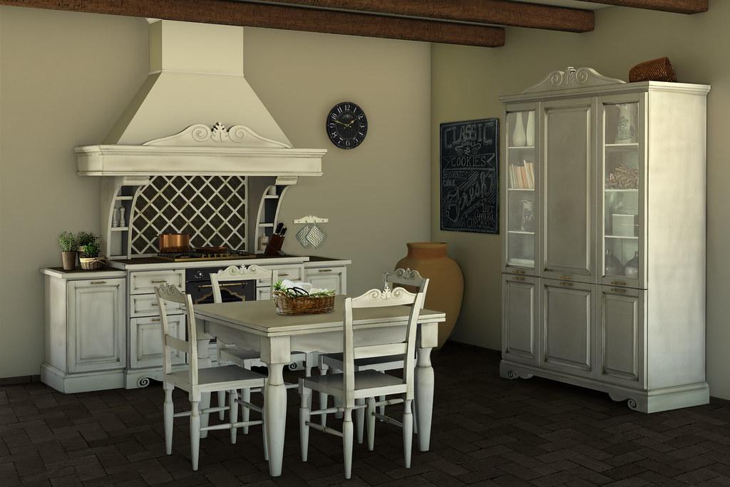 Cucina della nonna classica finitura in decap blocco for Cucina della nonna