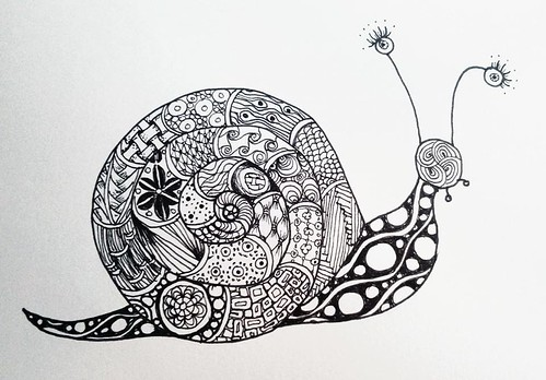 Snail Si 226 N Thomas Flickr Tom Mosaic Coloring Pages
