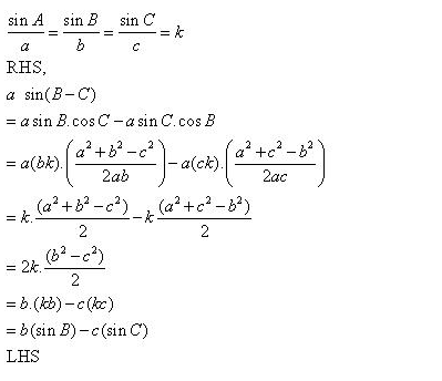 RD-Sharma-Class-11-Solutions-Chapter-10-sine-and-cosine-formulae-and-their-applications-Ex-10.1-q11