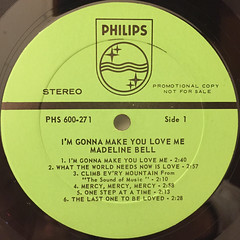 MADELINE BELL:I'M GONNA MAKE YOU LOVE ME(LABEL SIDE-A)