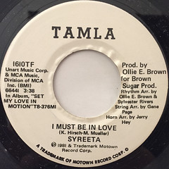 SYREETA:I MUST BE IN LOVE(LABEL SIDE-A)