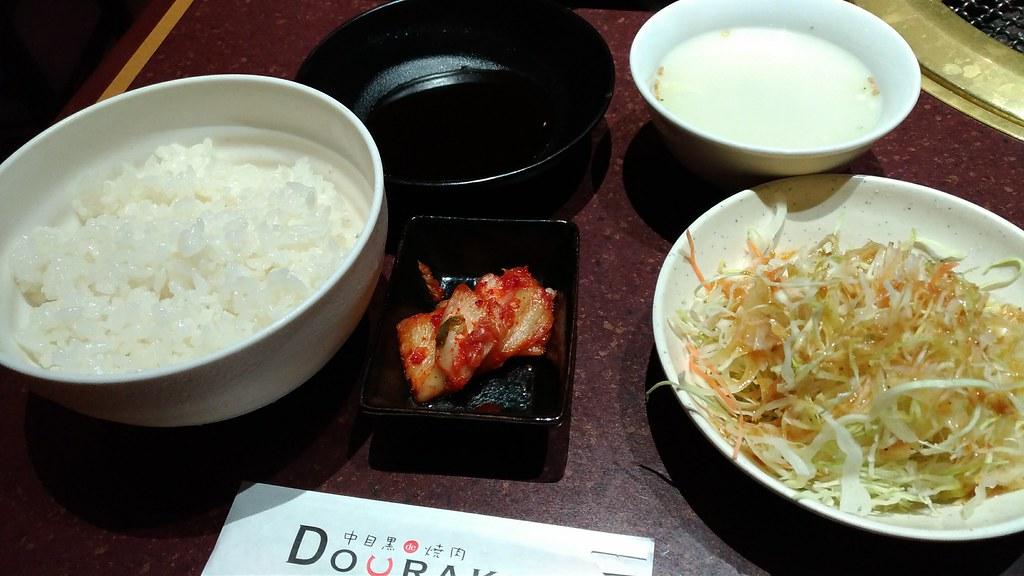 焼肉DOURAKU、ランチセットのご飯など