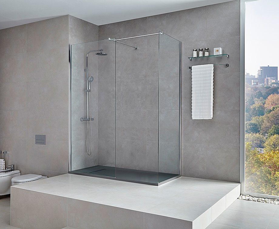Elegant glass shower Walk-in N by Burgos-based Cerámicas Gala Sundeno_02