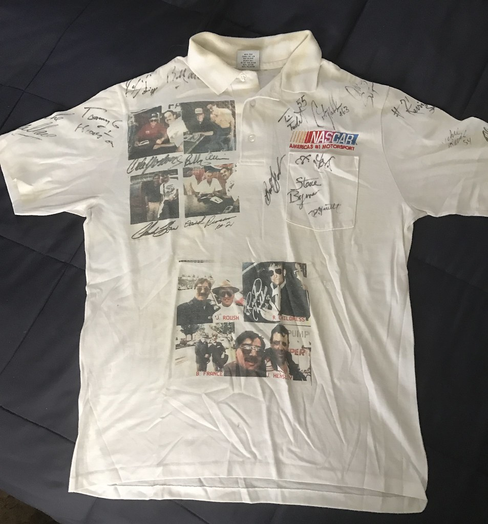 ... #39-22, NASCAR Polo Shirt, Signed by 34 Drivers   by Picture