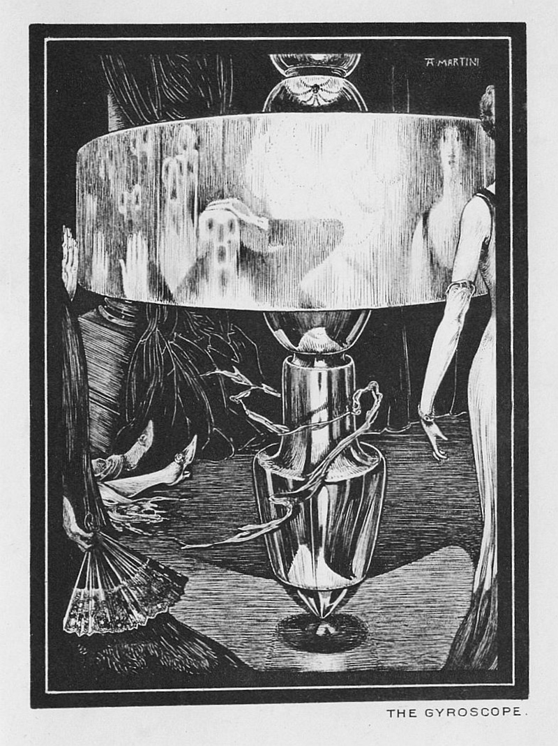 "Alberto Martini - Illustration from ""The Gyroscope"" published in ""Raw Edges"" by Perceval Landon, 1908"