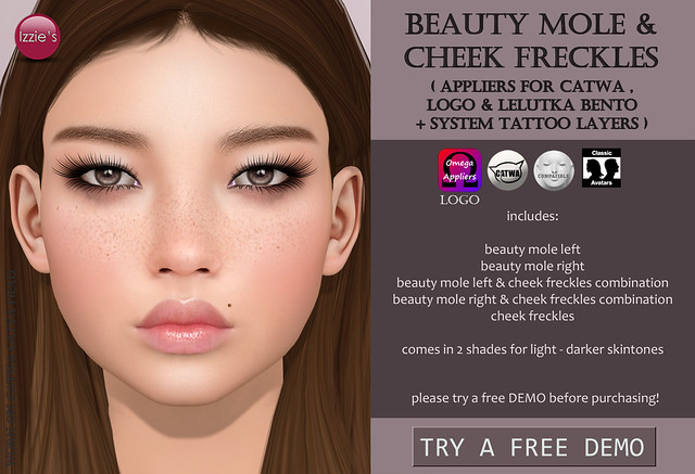 Beauty Mole & Cheek Freckles for FLF