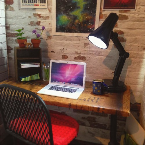 Desk . #dollroom #dolldiorama #dollfurniture #dollshouse #dollhouse #roombox #barbiecustom #barbie #barbiecollector #sixthscale #dollphotography #playscale #fashiondollphotography #dollstagram #instadoll
