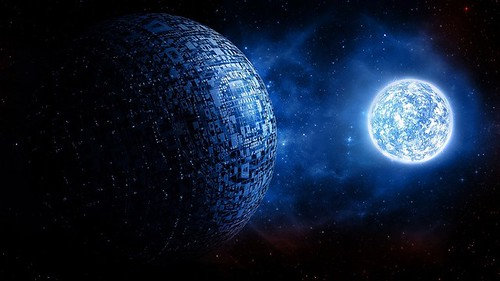 digital-art-sphere-ball3d-space-universe-planet-stars-glowing-science-fiction-1080P-wallpaper