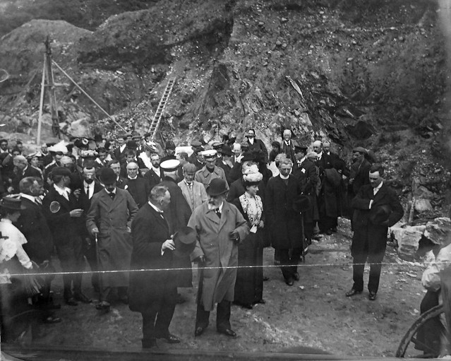 """Their Majesties King Edward VII and Queen Alexandra in the Connemara Marble Quarries Recess Co. Galway Ireland on July29th 1903"""