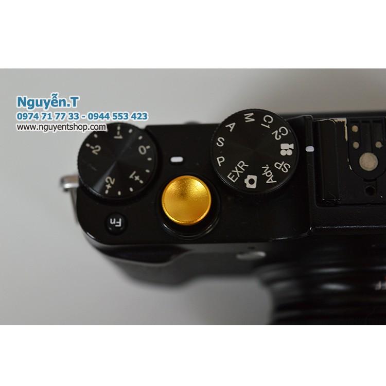 Nút bấm nhôm Fujifilm shutter button Gold edition lõm