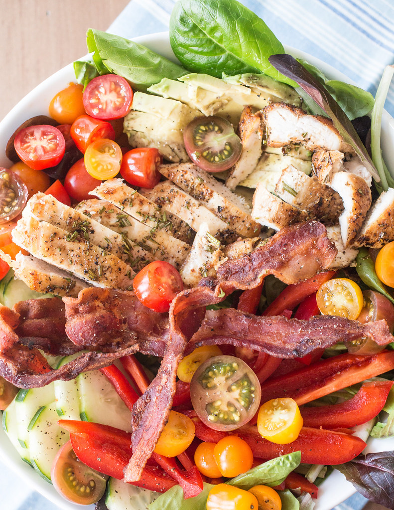 Rosemary Chicken Bacon Avocado Salad