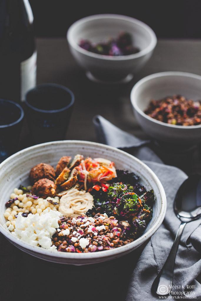 Buddha Bowl-Lentils Falafel GiantCouscous Kalettes Hummus-by Meeta K. Wolff-0024