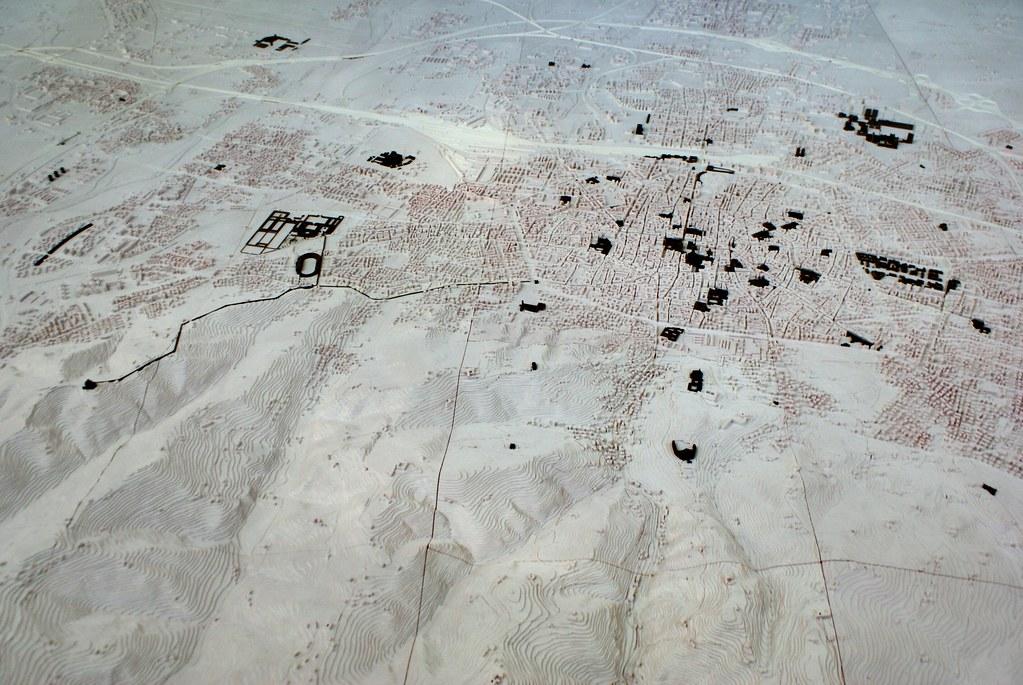 Plan de Bologne avec en surimpression les monuments (les parcs, cours d'eau...) dans le Centre Urbain.