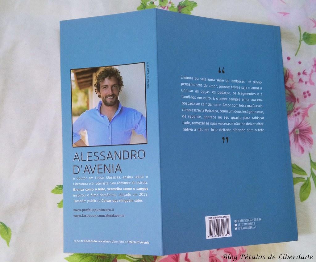 """livro """"O que o inferno não é"""", Alessandro D'Avenia"""
