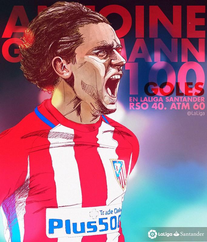 100 Goles de Antoine Griezmann en La Liga Santander