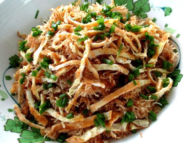 My fried Sarawak laksa bihun