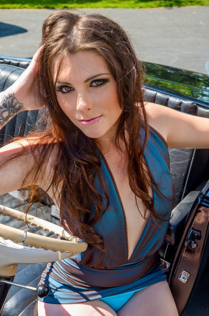 glamour model heather rocking a vintage car studio5graphics flickr