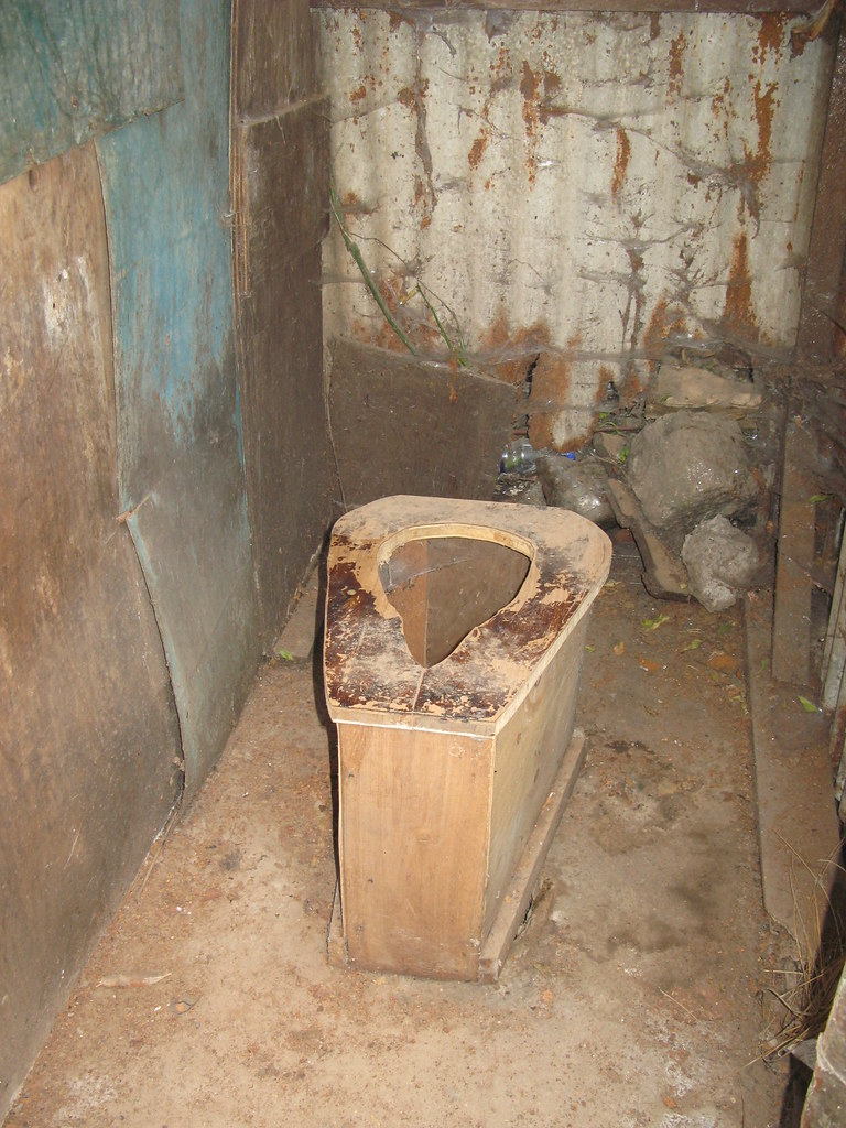 Old Pit Latrine With Seat In Low Income Area Bulbul Near N