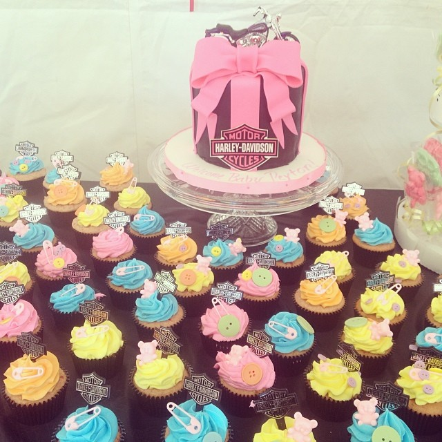 ... Harley Davidson Baby Shower Cake And Cupcakes #harleycake #harley  #imagineitcake | By Imagine