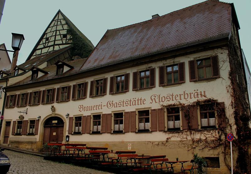 Una de las fabulosas cervecerías de Bamberg