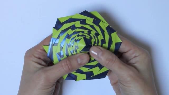 Curlicue Kinetic Origami Flickr