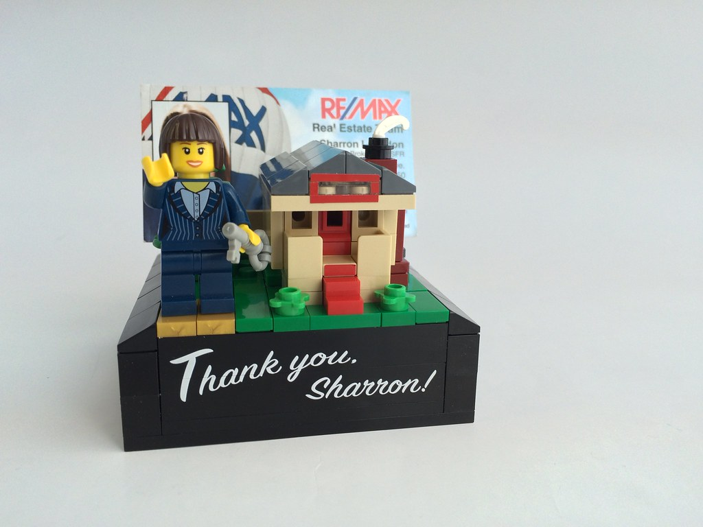 Lego thank you business card holder a gift for our realtor flickr lego thank you business card holder by wunztwice reheart