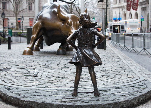 Fearless Girl Statue by Kristen Visbal New York City Wall Street